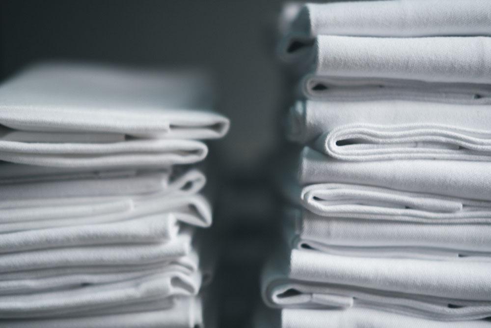 White linens photo by Dan Burton