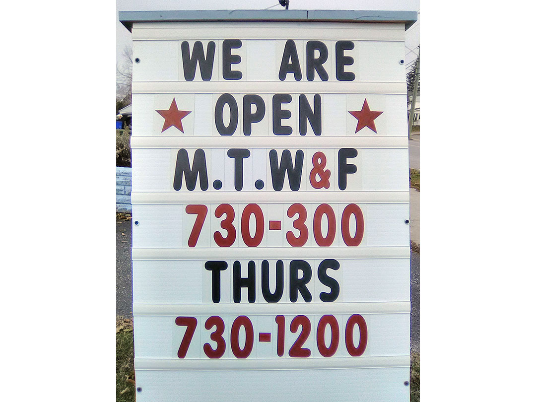 Store Hours - Classic Cleaners, Campbellford